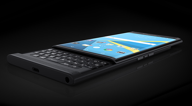 Первые официальные изображения слайдера BlackBerry Priv
